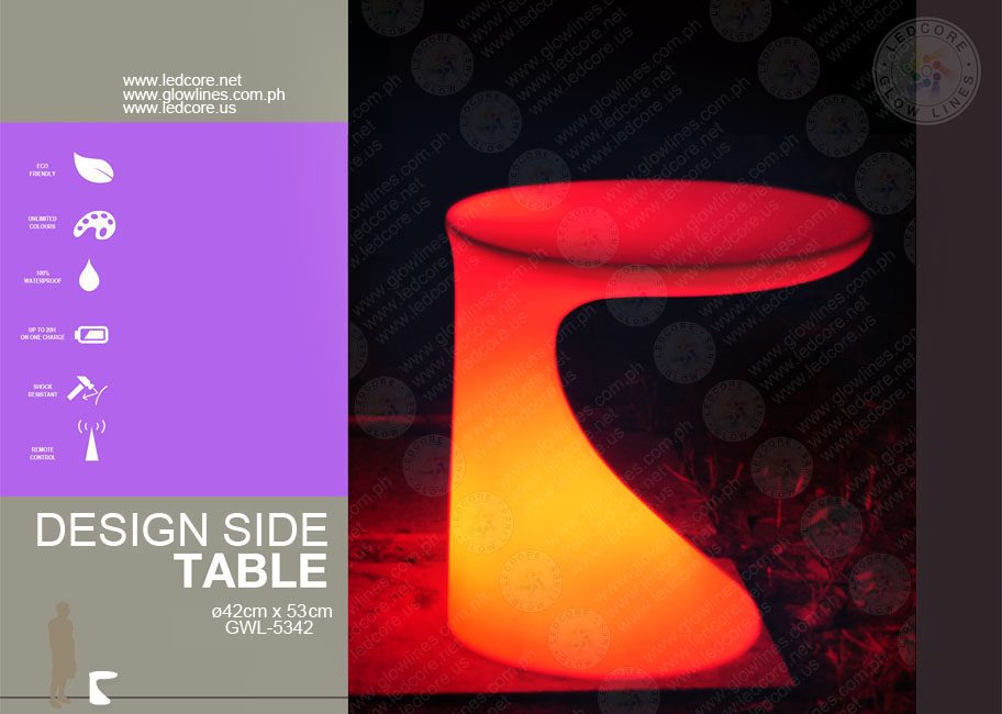 Catalog ledcore glow lines outdoor furniture hotel for Design hotel glow